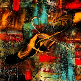 Nat corbeil l 39 artiste peintre lisabel expose au salon de l 39 auto de montr al - Auto entrepreneur artiste peintre ...