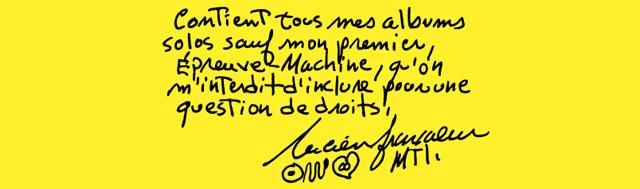 Avis - Lucien Francoeur