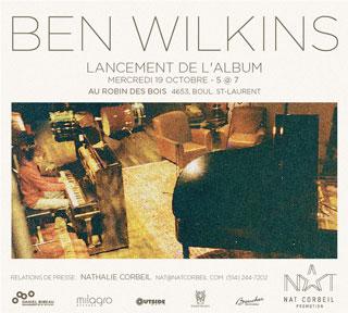 Invitation au lancement de l'album de Ben Wilkins