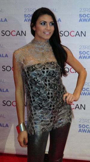 Kristina Maria au Gala de la SOCAN