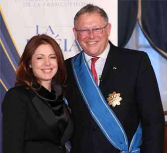 Madame Isabelle Boulay et Monsieur Jacques Chagnon