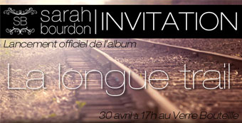 Invitation lancement Sarah Bourdon
