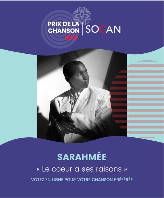 Sarahmée - SOCAN