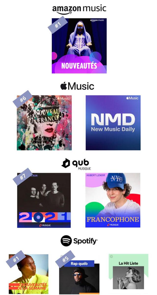 Sarahmée - Playlists
